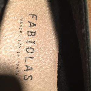Fabiolas Shoes - Fabiolas black leather espadrilles. Made in Spain